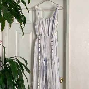 JOA striped jumpsuit